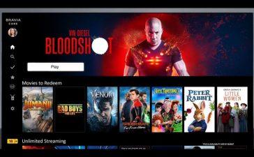 Serviciul de streaming Bravia Core de la Sony va furniza videoclipuri comparabile cu Blu-ray