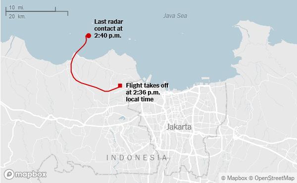 Avion indonezian se prăbușește în mare după decolare, transportând 62 de călători