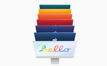 Noile iMac-uri colorate ale Apple au un design mai elegant și cipul M1