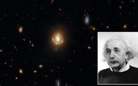 """""""Inelul Einstein"""" reperat de Hubble la 3,4 miliarde de ani lumină de Pământ"""